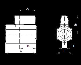 Шаровые краны Norgren (Германия) серия 6011 G1/8-G1/2 10Bar